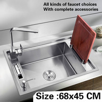 Free Shipping Big Kitchen Sink 304 Stainless Steel 1 2 Mm Hand Made Single Slot Hot