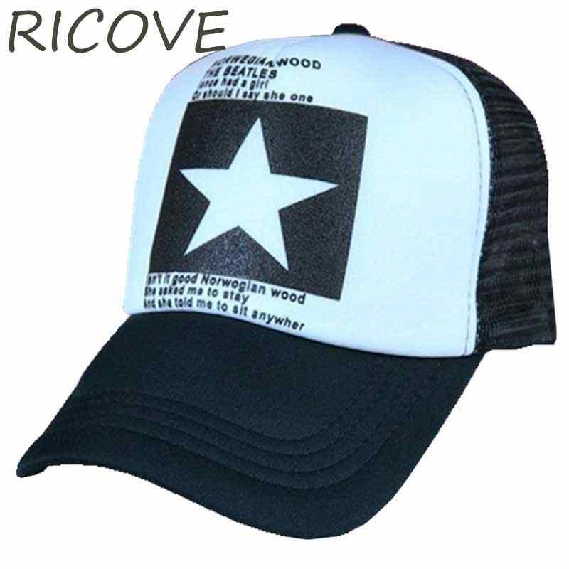 f13ed616f87 Snapback Hip Hop Hat Trucker Caps Men Mesh Dad Hats For Women Big Star Baseball  Cap
