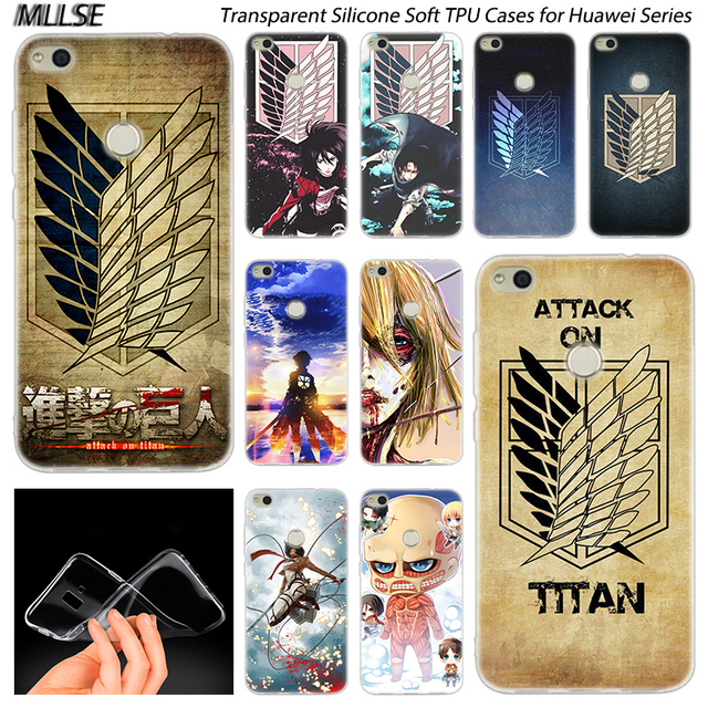 Attack on Titan logo Soft Silicone Case Cover for Huawei Models