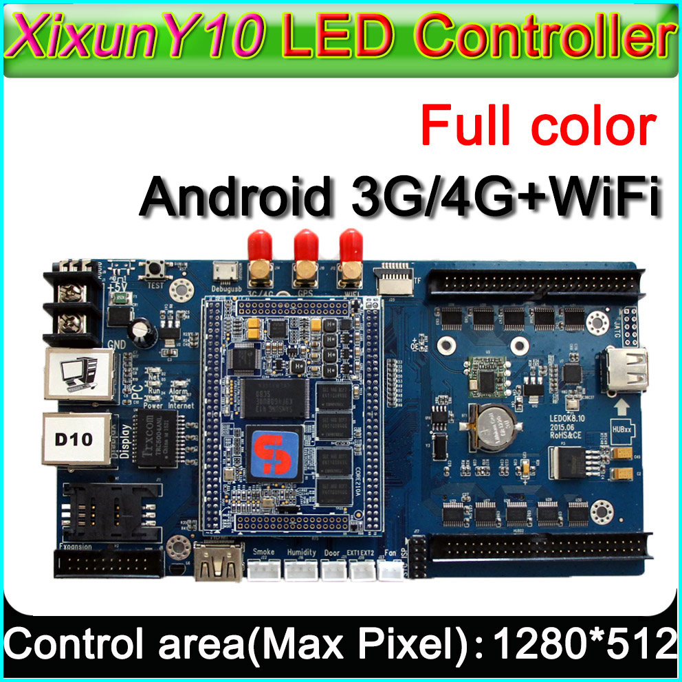 3G/4G WiFi Xixun Y10 Wireless Android LED Display Control Card AIPS Platform, LED Android control y10 taxi top sign controller