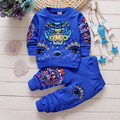 Hot Sales New Spring 2017 Children Clothing Baby Boy Girl Tiger Head O Neck T shirt + Pants Can Open Crotch Pants Sport Sets