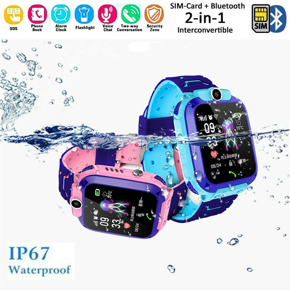 UK Smart Watch with GPS GSM Locator Touch Screen Tracker SOS SIM  For Kids ChildrenUK Smart Watch with GPS GSM Locator Touch Screen Tracker SOS SIM  For Kids Children