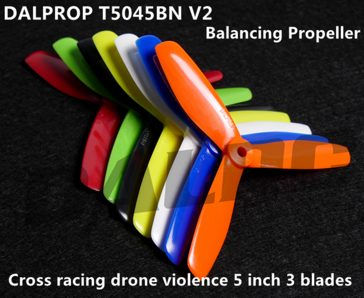 DALPROP 50 pairs Dynamic Balancing T5045BN V2 5-inch mini multi-rotor 3 blades special propeller for DIY FPV racing mini drone dalprop t5040 v2 high end dynamic balancing propellers fpv pc propeller cw ccw for qav250 5 inch 3 leaf blades excellent balance