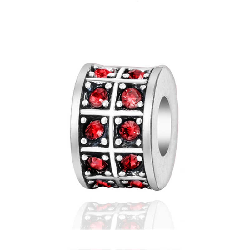 Trendy srebrny Plated kryształ Spacer klip Diy koraliki urok pasuje oryginalny Pandora Charms bransoletki i Bangles kobiety Diy biżuteria 2018