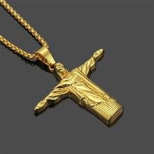 1PC Street Fashion Vintage Jesus Pendant Necklace Hip Hop Personality Mens Accessories Support a generation