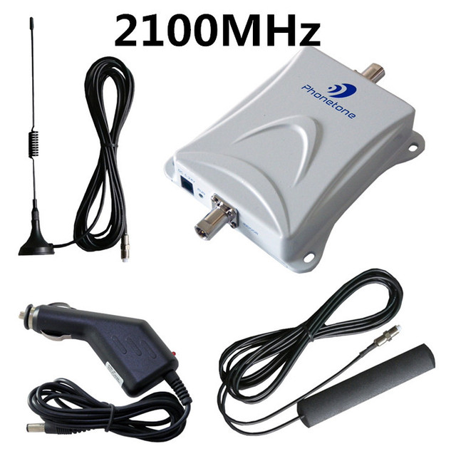 2100MHz Car Repeater Vehicle Signal Booster 3G WCDMA Smart Phone Amplifier Kit