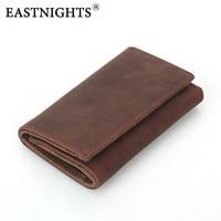 EASTNIGHTS Men Key Wallet Genuine Leather Women Key Holder With Coin Purse Cowhide Unisex Key Organizer Bag
