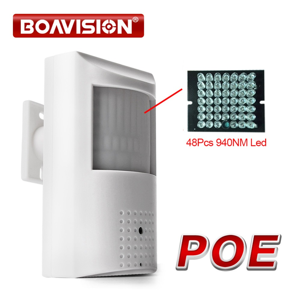 Security HD 720P PIR STYLE IP Camera POE Onvif &P2P View 940nm IR 10m Night Vision View H.264 1.0MP CCTV Camera IP Onvif ...