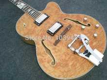 Neue ankunft + Wholesale + Free Shipping + New gebaut + natual farbe AAAA burl flamme auf boyd top Electric gitarre, tun OEM service