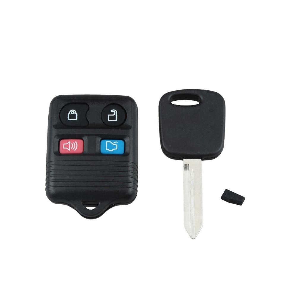 1 Set Black Keyless Entry Remote Fobs 1 Uncut Ignition Transponder Chip Keys 315MHZ 4C Chip