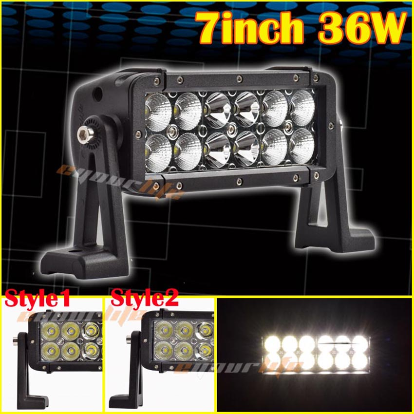 Eyourlife 36W 7INCH 2100LM Alloy Spot Flood Combo Work Bar Driving Light Lamp Off Road 4WD 4X4 Boat UTE SUV 12V 24V 99 детский шлем hh 2100 combo