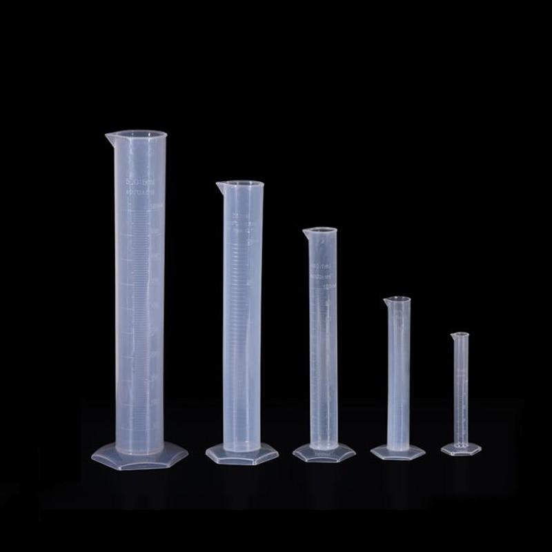 Clear White Plastic Liquid Measurement Graduated Cylinder For Lab Supplies Laboratory Tools 10ml,25ml,50ml,100ml,250ml,500ml