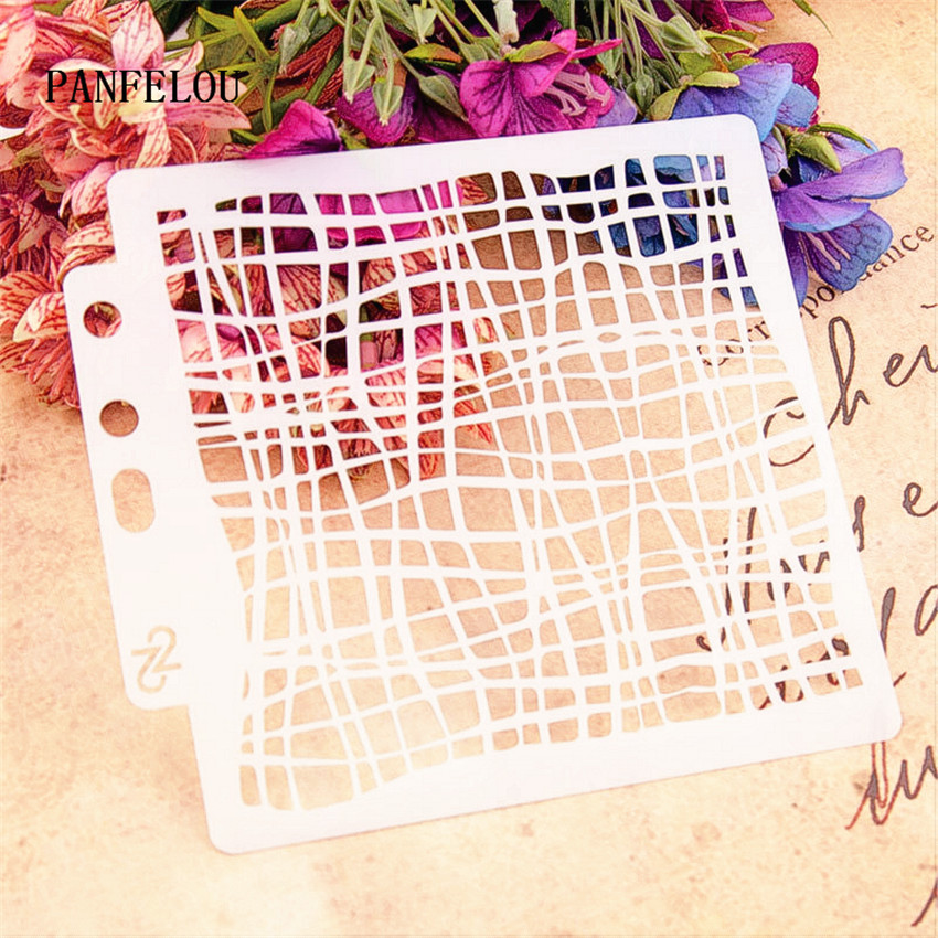Square Maze Scrapbook Stencils Spray Plastic Mold Shield DIY Cake Hollow Embellishment Printing Lace Ruler Valentine