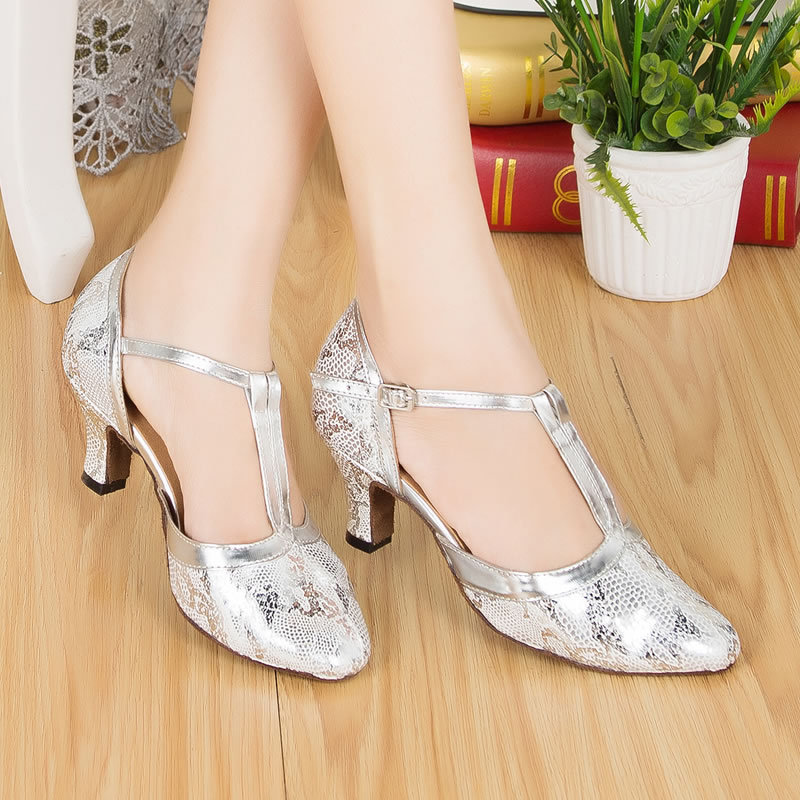 White Satin Women S Autumn And Winter Latin Modern Dance Shoes Ballroom Dancing Party Wedding 6cm Heel In From Sports