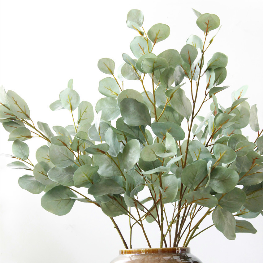 90 cm artificielle eucalyptus feuille plante verte branches soie fleur accessoires organization. Black Bedroom Furniture Sets. Home Design Ideas
