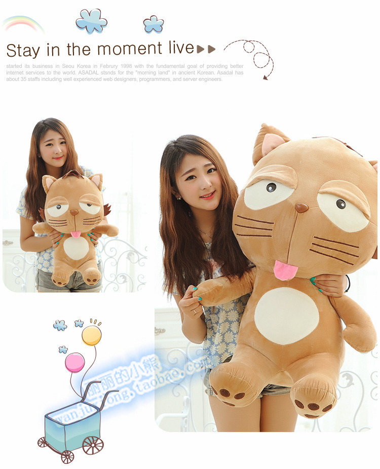 90 cm Dinga cat plush toy lovely cat doll gift w4115 кварцевые часы casio collection ltp e118g 5a