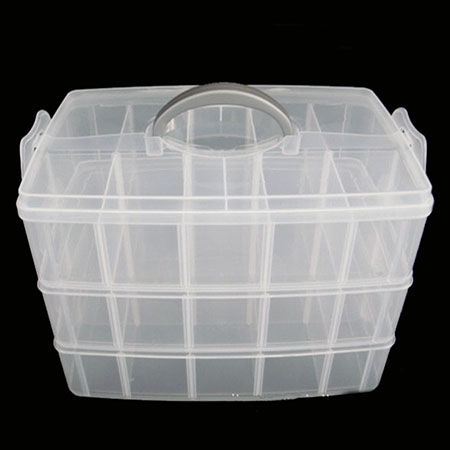 30 grids plastic storage box for toys rings jewelry for Plastic grid sheets crafts