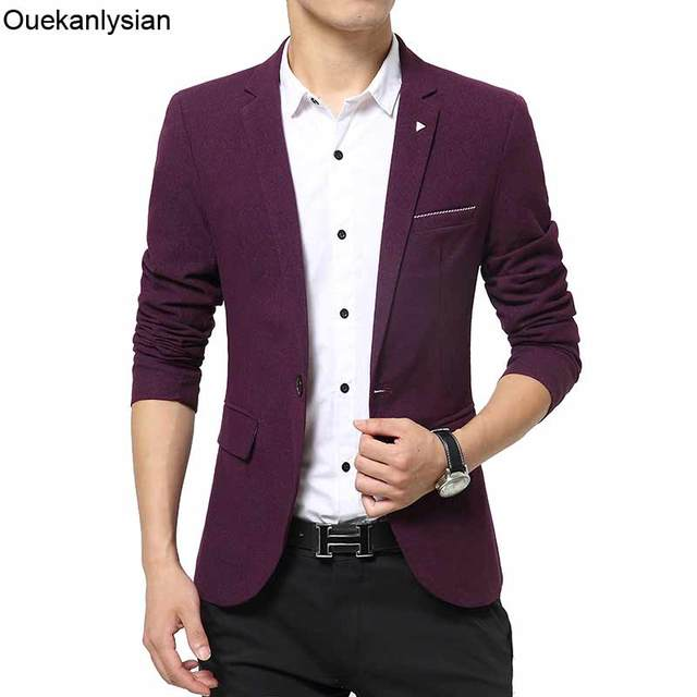 Slim Di Giacca Fit Ouekanlysian Uomini Lana Blazer One Red Button w4wF7aYq