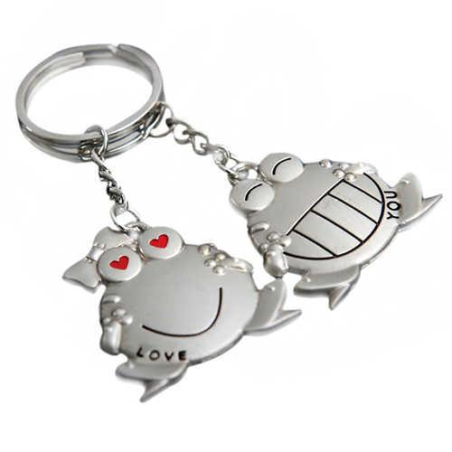 1 Par Te Amo Big Mouth Frog Chaveiro Chave Anel Keychain Keyfob Presente Namorada 8927