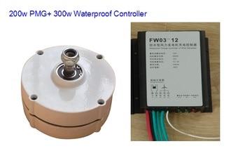 Générateur d'aimant permanent d'alternateur de 12 v 24 v 200 w PM avec le contrôleur
