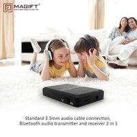 Magift Беспроводной Bluetooth приемник передатчик 3.5 мм аудио адаптер 2 в 1 для компьютера ТВ аудио стерео музыку передатчик