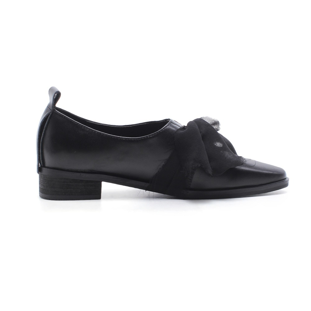 Chaussures Bas À Cuir Classique Papillon Noeud Fashion Des L4f3 Véritable Femmes Talons Noir Pot Solide Pompes High Sur Krazing En Street blanc Glissement 8qv04Zxw