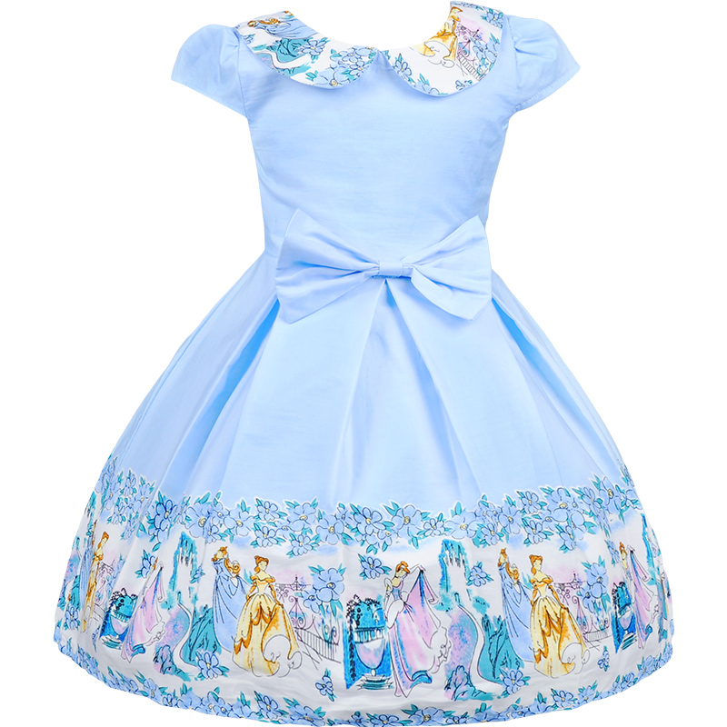 1237 36 De Descuentovestidos Para Niñas Vestidos De Baile De Algodón De Dibujos Animados Para Niñas Vestidos De Verano Princesa Elegante Vestido