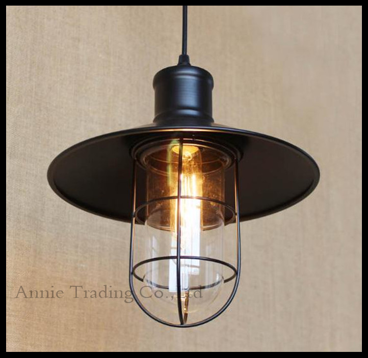 Vintage Iron Pendant Light Industrial Lamps E27 Cage Pendant Lamp Hanging Lights Fixture With Glass Guard Indoor Lighting vintage iron pendant light industrial lamps e27 cage pendant lamp hanging lights fixture with glass guard indoor lighting