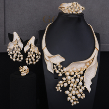 GODKI Luxury MAXI SIZE GRAPE 4PCS Nigerian Jewelry Set For Women Wedding Zircon Indian African Bridal Jewelry Set 2018