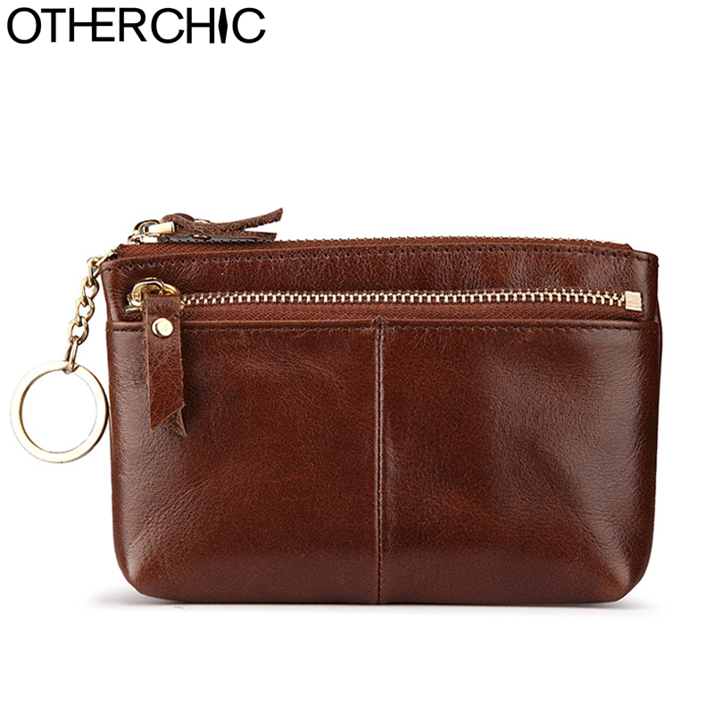 OTHERCHIC Genuine Cow Leather Change Purse Women Coin Purse Men Housekeeper Vintage Wallet Small Clutch Bag Small Purses 7N07-71