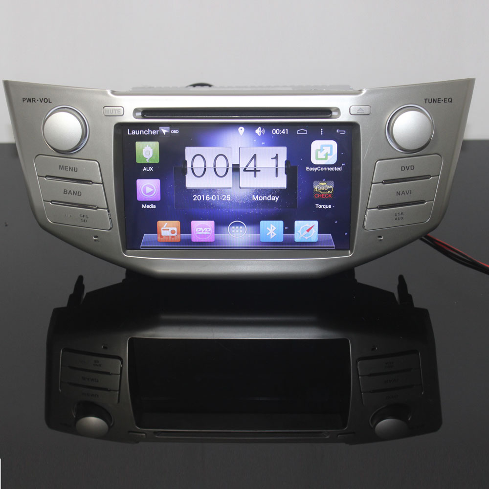 Car DVD Dual Corefor lexus rx350,rx400 h, Pure Android 6.0 1024*600 Capacitive Screen 3G WIFI 1g RAM 1.7GHZ free canbus 2 din car dvd player pure 4 4 2 android gps radio for lexus rx300 rx330 rx350 7inch 1080p dual core 3g wifi 1g drr3 1 7ghz