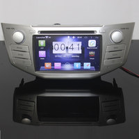 Car DVD Dual Corefor lexus rx350,rx400 h, Pure Android 6.0 1024*600 Capacitive Screen 3G WIFI 1g RAM 1.7GHZ free canbus