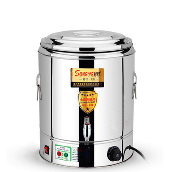 Stainless Steel Cooking Bucket Commercial Electric Double-layer Insulation Barrel Heating Barrel Boiling Water/Noodle/Soup