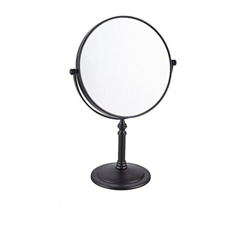 LIUYUE, зеркало для макияжа, медное, черное, стиль, 8 дюймов, зеркало для макияжа, профессиональное туалетное зеркало, 360 градусов, для ванной комнаты, Лупа - Цвет: black