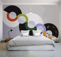 Free Shopping Modern 3D Stereo Personality Circle Geometric Abstract Pattern Mural Studio Living Room Bedroom Mall