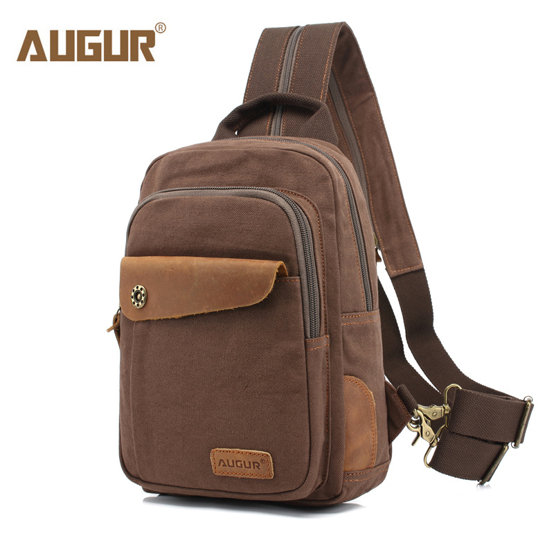AUGUR Casual Canvas Shoulder Bags Male Travel Crossbody Bag Men Chest Pack Bag For Men Work Sling цена
