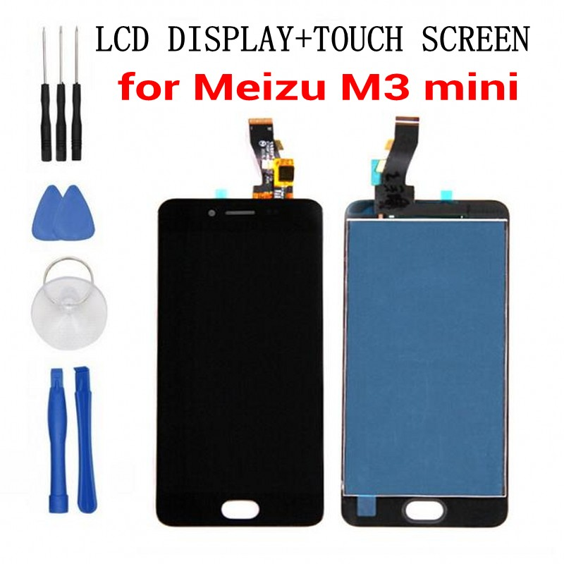 Meizu 100% New M3 mini LCD Display + Touch Screen 5.0inch HD Digitizer Assembly Replacement For Meizu M3 mini-in Mobile Phone LCD Screens from Cellphones & Telecommunications