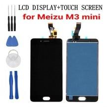 Meizu 100% nowy M3 mini wyświetlacz LCD + ekran dotykowy 5.0 cal HD wymiana Digitizer zgromadzenie dla Meizu M3 mini