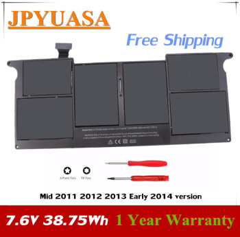7XINbox 7.6V 38.75Wh A1406 A1495 Laptop Battery For APPLE Macbook Air 11 inch A1465 A1370 Mid 2011 2012 2013 Early 2014