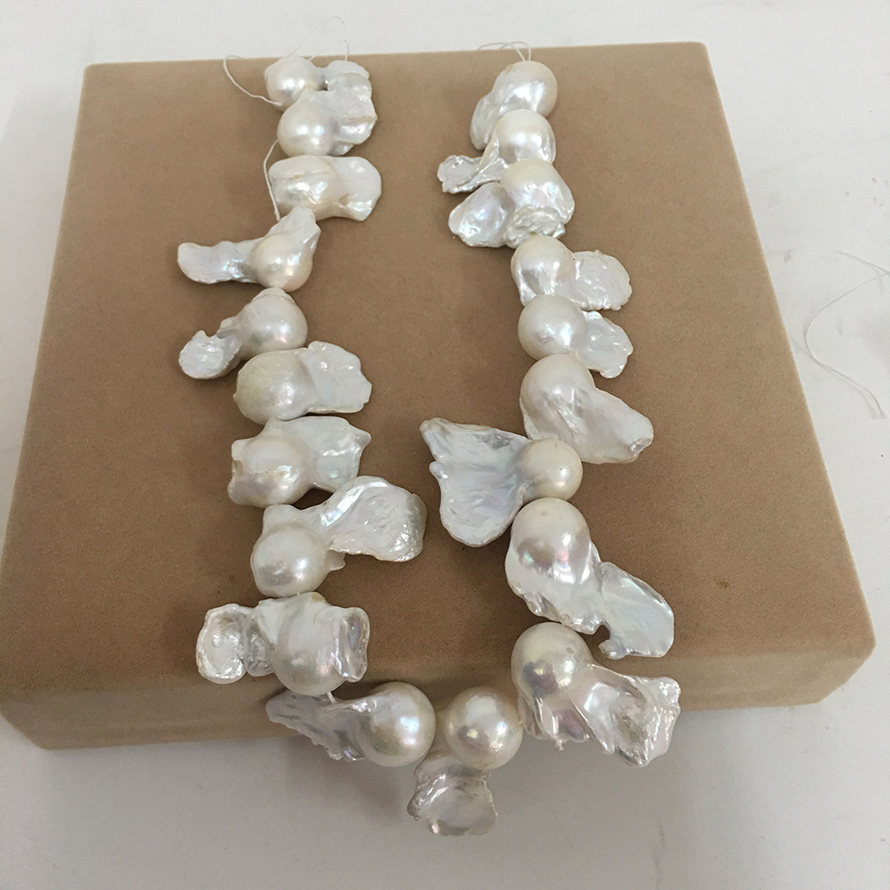 free shipping loose pearl beads 100 Nature freshwater loose pearl with baroque shape BIG BAROQUE shape pearl 13 17 mm in Beads from Jewelry Accessories