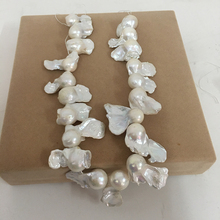free shipping loose pearl beads,100% Nature freshwater loose pearl with  baroque shape, BIG BAROQUE shape pearl .13-17 mm цена