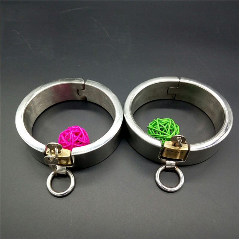 ФОТО male/female stainless steel metal handcuffs Invisible lock handcuffs for sex,fetish BDSM bondage adult sex toys for couples