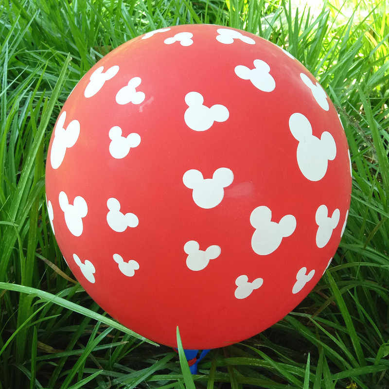 30pcs /lot printed latex balloon Transparent 12inch colorful Children's  birthday party decorated with cartoon Mickey Mouse head