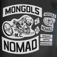 MONGOLEN NOMAD patch Bestickt punk biker Patches Kleidung Aufkleber Bekleidung Zubehör Abzeichen