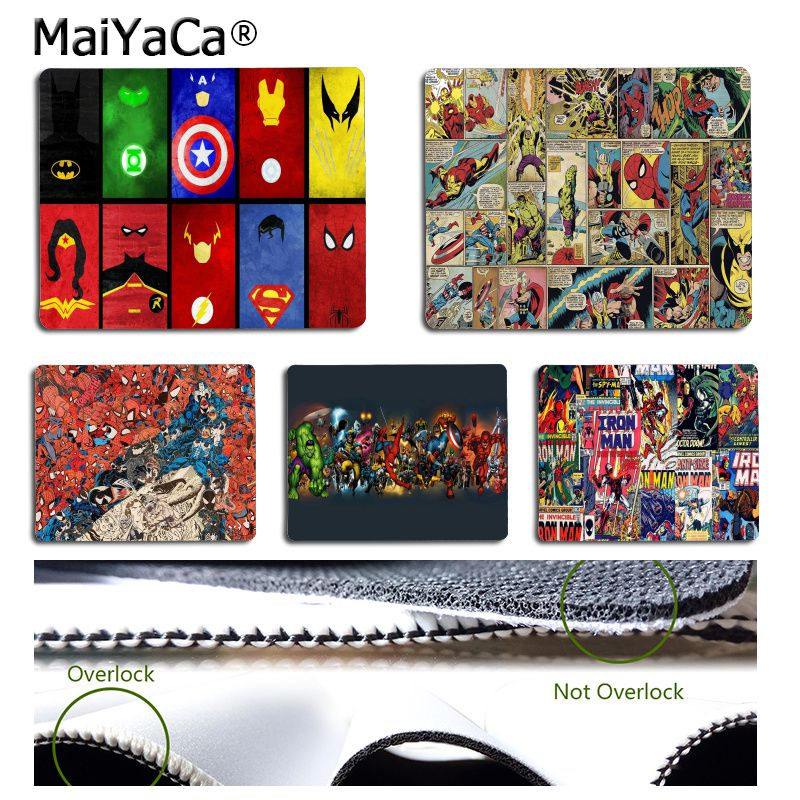 MaiYaCa New Designs Marvel Comics Superheroes Collage DIY Design Image Game Mousepad Simple Design Speed Game Mouse Pads