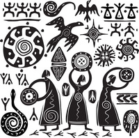 Tribe Vinyl Sticker Mural Wall Decal Egyptian Tribe Large Wall Sticker Egypt Sticker Bedroom Living Room Home Decoration