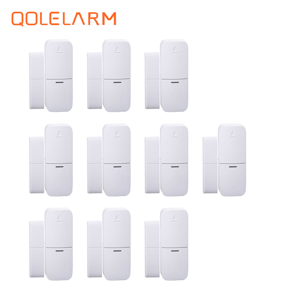 Wireless Multi-function Door Sensor Magnetic Window Detector For Security Alarm System Automatic Door Sensor 433MHz wireless vibration break breakage glass sensor detector 433mhz for alarm system