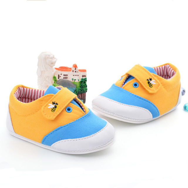 New fashion canvas shoes, baby cute first walkers,safe PVC sole for0-2 baby FW-005