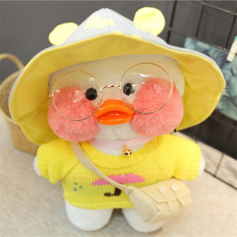 30cm White LaLafanfan Cafe Duck Plush Toy Cartoon Cute Duck Stuffed Doll Soft Animal Dolls Kids Toys Birthday Gift for Children(China)