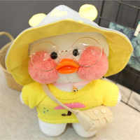 30cm White LaLafanfan Cafe Duck Plush Toy Cartoon Cute Duck Stuffed Doll Soft Animal Dolls Kids Toys Birthday Gift for Children